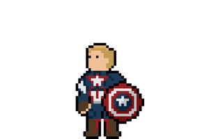 Captain America Pixel Art Wallpaper