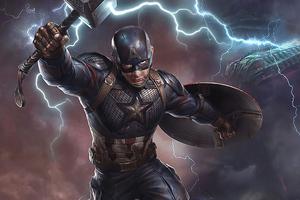 Captain America Powers 4k