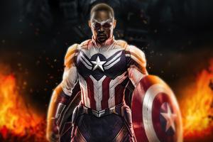Captain America Sam Wilson 4k