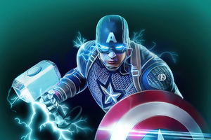 Captain America Shield And Hammer Power