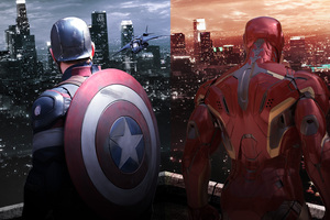 Captain America Shield And Iron Man