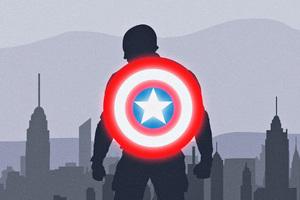 Captain America Shield Artwork Wallpaper