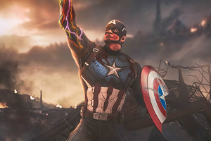 Captain America Shield Infinity Gauntlet Wallpaper