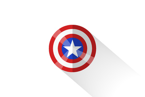 Captain America Shield Minimal 5k Wallpaper