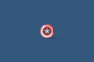 Captain America Shield Minimalism Wallpaper
