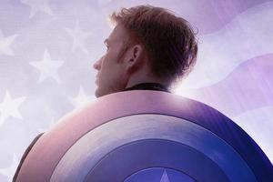 Captain America Shield On Back 4k