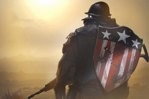 Captain America Shield With Gun Wallpaper