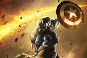 Captain America Shieldart4k Wallpaper