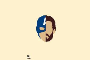 Captain America Steve Rogers Minimalism