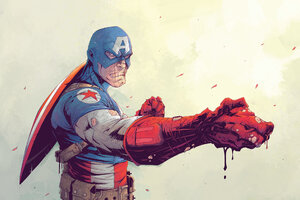 Captain America Suit Cool Artwork