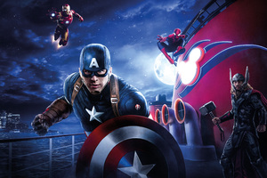 Captain America Thor Iron Man Spiderman Disneyland Paris Marvel Disney Cruise