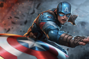 Captain America Throwing Shield