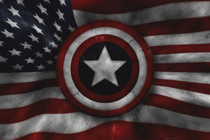 Captain America Us Flag 4k Wallpaper
