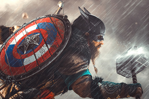 Captain America Valhalla 4k