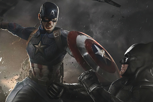 Captain America Vs Batman 4k