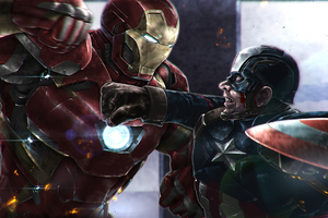 Captain America Vs Iron Man 4k 2020 Wallpaper