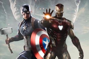 Captain America Vs Iron Man 4k Artwork