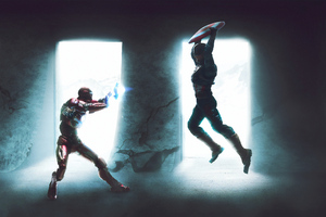 Captain America Vs Iron Man 4k