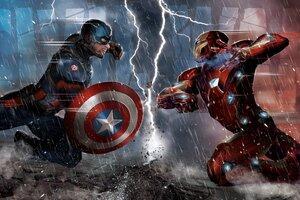 Captain America Vs Iron Man Comic 5k Wallpaper