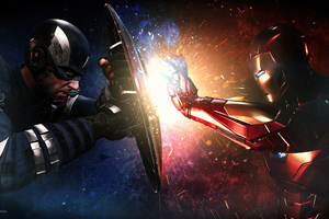 Captain America Vs Iron Man Fight 4k