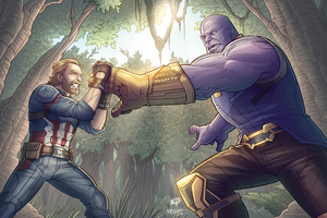 Captain America Vs Thanos 2020 4k Wallpaper