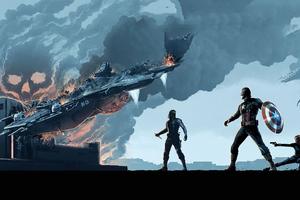Captain America Winter Solider Arts Wallpaper