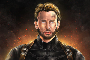 Captain America With Beard Artwork