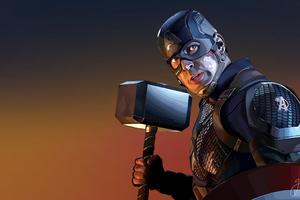 Captain America With Hammer 4k Wallpaper