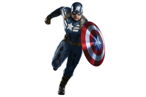 Captain America With Shield Artwork
