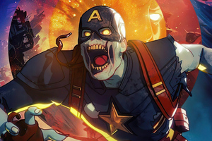 Captain America X Zombie What If Wallpaper
