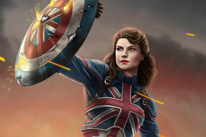 Captain Carter What If 4k Wallpaper