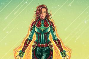 Captain Marvel 2020 4k Art