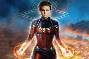 Captain Marvel 2020 4k Brie Larson Wallpaper