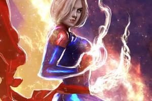 Captain Marvel 2020 Artwork 4k Wallpaper