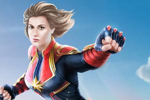 Captain Marvel 4k Art