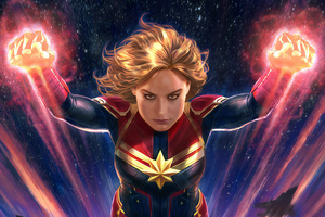 Captain Marvel 4k Arts Wallpaper