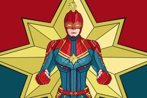 Captain Marvel 4k Artwork Wallpaper