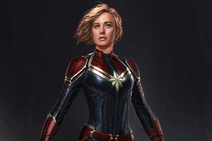 Captain Marvel 4k Concept Art Wallpaper