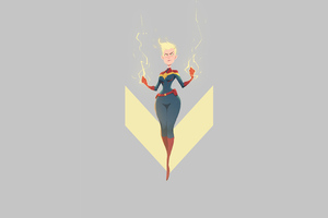 Captain Marvel 4k Minimal
