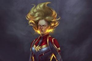 Captain Marvel 4k Newart Wallpaper