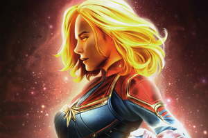 Captain Marvel 4kart Wallpaper
