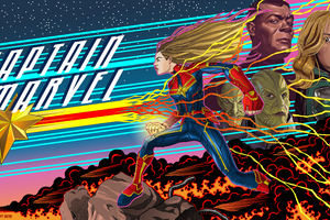 Captain Marvel 5k 2019 Art