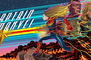 Captain Marvel 5k 2019 Art