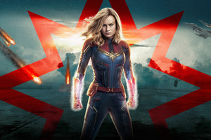 Captain Marvel 5k 2019 Poster