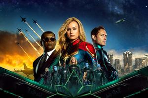 Captain Marvel 5k Movie Poster Wallpaper