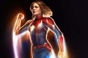 Captain Marvel 5k New Artwork Wallpaper