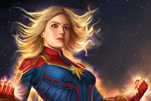 Captain Marvel Artnew 2019