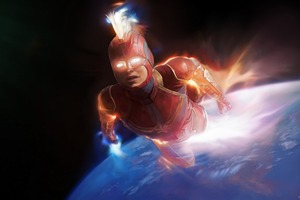 Captain Marvel Arts 4k Wallpaper