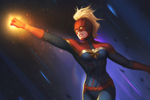 Captain Marvel Arts New