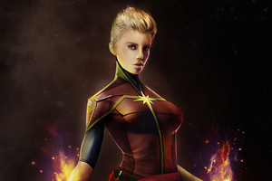 Captain Marvel Artwork 2020 4k Wallpaper